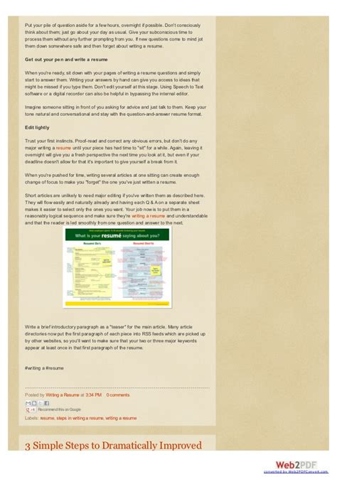 improve the quality of your resume writing