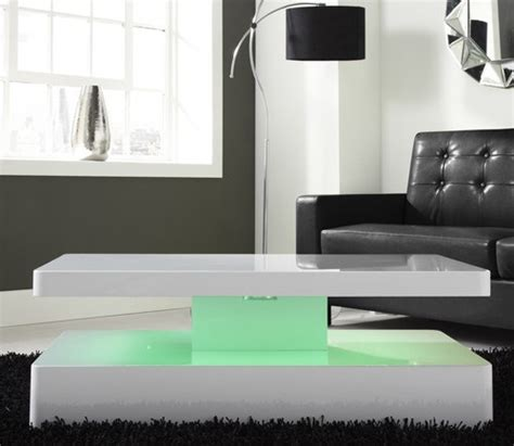 coffee table with lights high gloss white coffee table with led lighting ebay