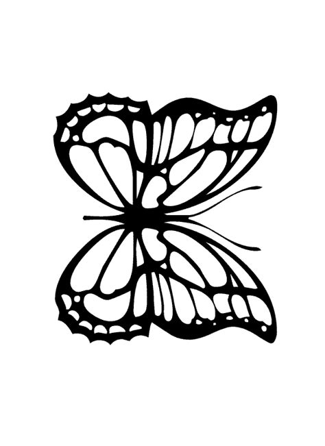 monarch butterfly coloring pages free monarch butterfly outline cliparts co