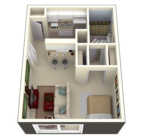 modern studio plans in ta fl s bay oaks 400 square feet of living space
