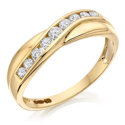 Eternity Ring by 9ct Gold Cubic Zirconia Half Eternity Ring 0000895