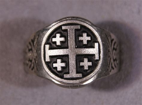 jerusalem cross crusaders cross ring all sizes 7 to 14