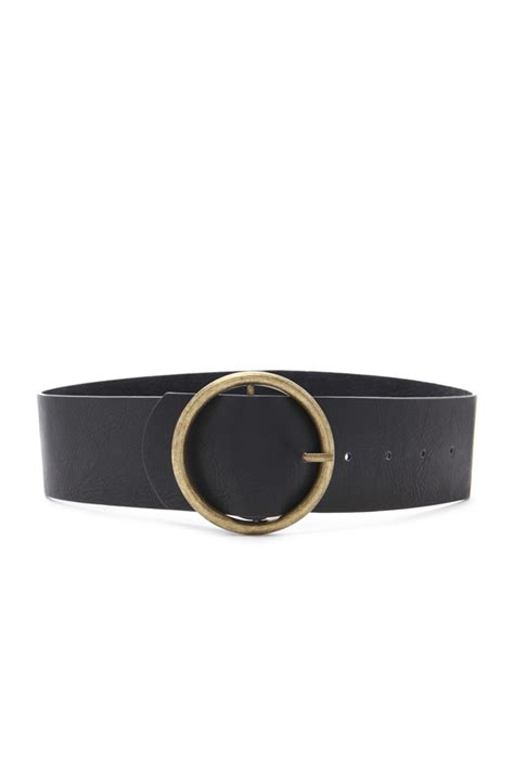 forever 21 wide faux leather belt in black lyst