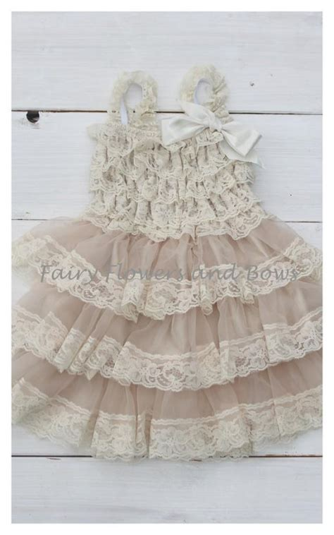 shabby chic flower dresses chagne rustic lace chiffon dress shabby chic flower