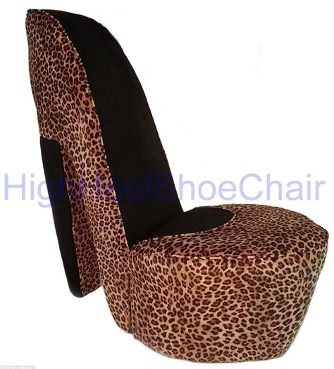 size leopard high heel shoe chair shoechair