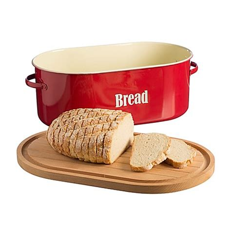 bread boxes bed bath and beyond typhoon 174 vintage bread box in red bed bath beyond