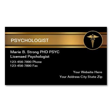 Psychologist Business Card Templates Free by Psychologist Business Cards