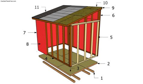 Constructing A Shed by Lean To Shed Plans Lean To Shed And Lean To On