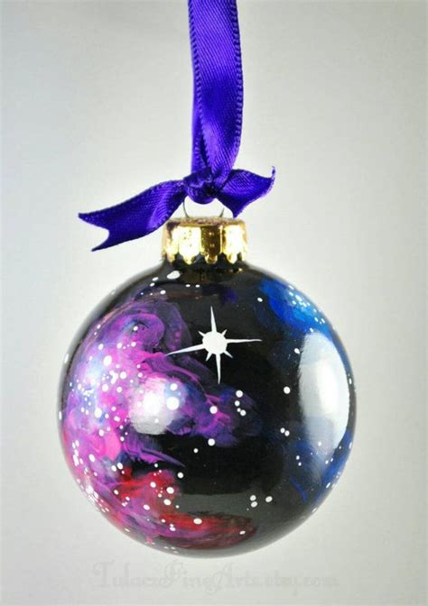 hand painted cosmos christmas ornament by tulaczfinearts