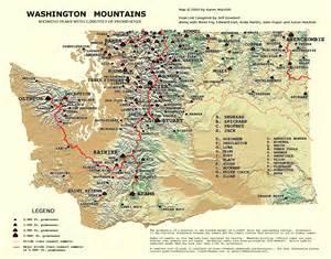 Washington Mountains Map the northwest peakbaggers asylum