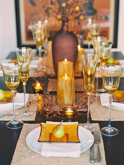 elegant table settings for all occasions hgtv glittering fall table setting and centerpiece ideas