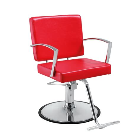 duke red salon chair