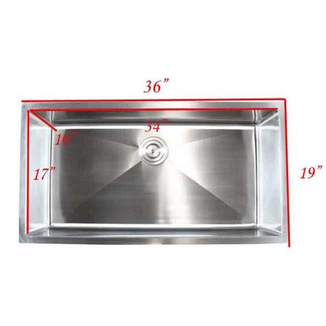 36 inch undermount kitchen sink ariel 36 inch stainless steel undermount single bowl