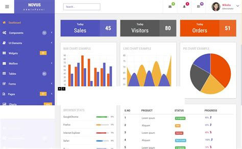 responsive website templates for admin panel 48 free html5 responsive admin dashboard templates 2017