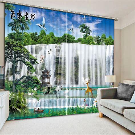 landscape curtains luxury curtains custom 3d curtains 3d landscape waterfall