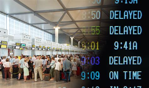 flights uk and european flight delays will affect almost half a million passengers a day
