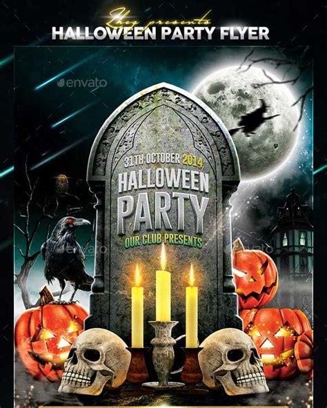 halloween templates for flyers free 20 halloween party flyer templates 2017 psd file