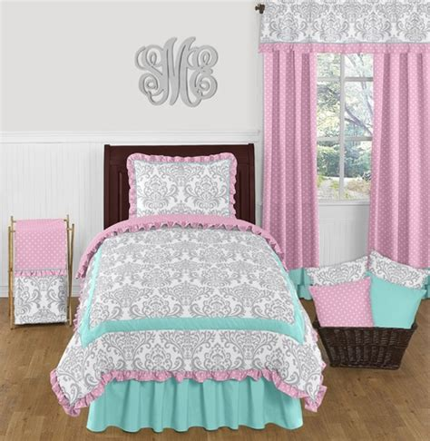 pink and turquoise bedding pink gray and turquoise skylar 4pc bedding set