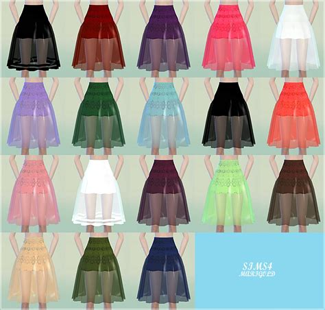 Midi Hanbok Skirt sims4 marigod see through midi skirts 시스루 미디 스커트 여성 의류