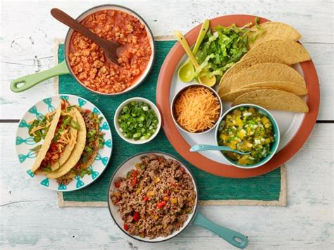 make your own food make your own tacos bar recipe rachael food network