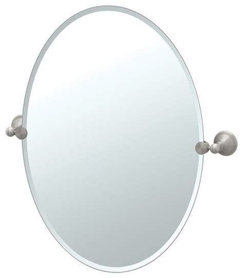 Modern Oval Bathroom Mirrors Laurel Ave Tilting Beveled Oval Wall Mirror Modern