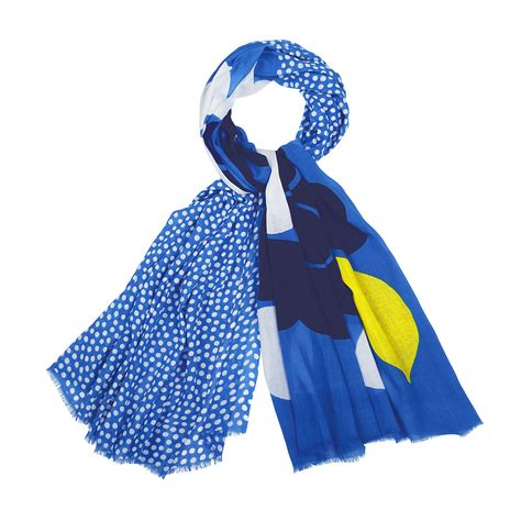 marimekko karjalanruusu blue scarf marimekko scarves sale