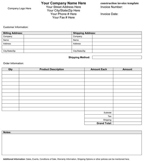 invoice form template unique independent contractor invoice template