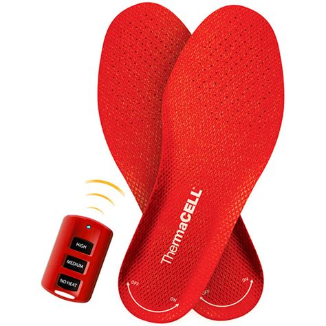 heated shoe inserts thermacell heated insoles