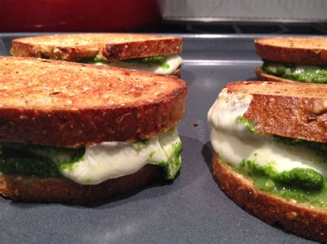 Link Mozzarella And Pesto Grilled Cheese by The Plate Mozzarella And Kale Pesto Grilled Cheese