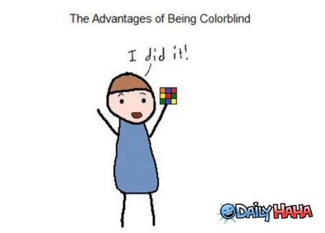 color blind jokes advantage of the colorblind