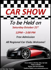 Car Show Flyer Template by Car Show Flyer Template Word Excel Pdf
