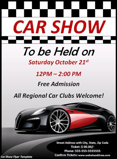 car show flyer template car sale flyer template free 2015 best auto reviews