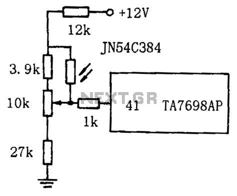 resistor in a circuit diagram gt sens detectors gt light gt tv by the photosensitive resistor circuit diagram automatic