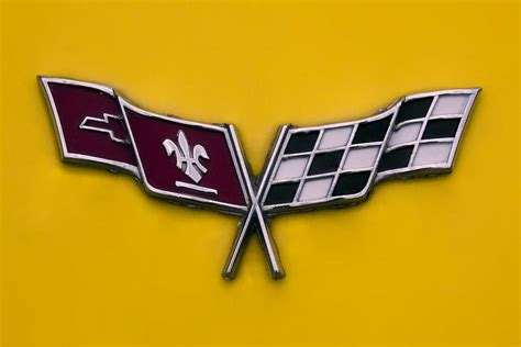 corvette flags emblem photograph by sally weigand