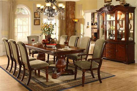 Formal Cherry Dining Room Sets Majesta Ii Pedestal Solid Wood Cherry 9pc Formal Dining Set
