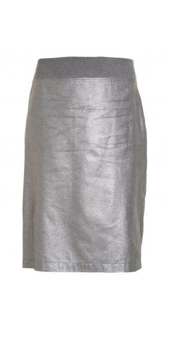 kedziorek metallic silver pencil skirt from idaretobe uk