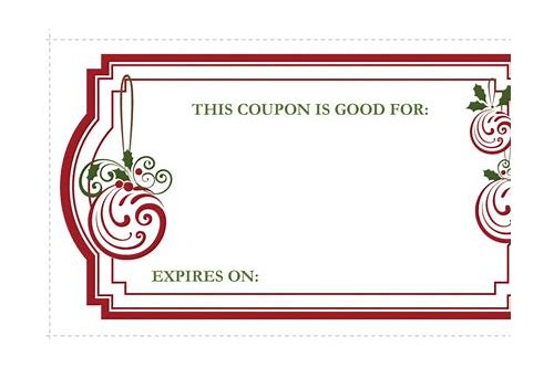 coupon template for gift holiday