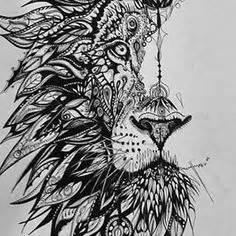 lion zentangle recruitment school spirit pinterest working on this spirit animal wolf fox design for a tattoo