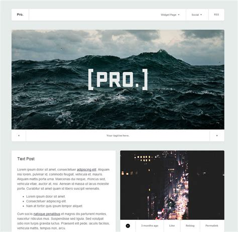 Professional Looking Tumblr Themes Free | image gallery layouts tumblr themes