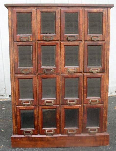 vintage pattern cabinet mahogany pattern cabinet 16 glass front drawers brass