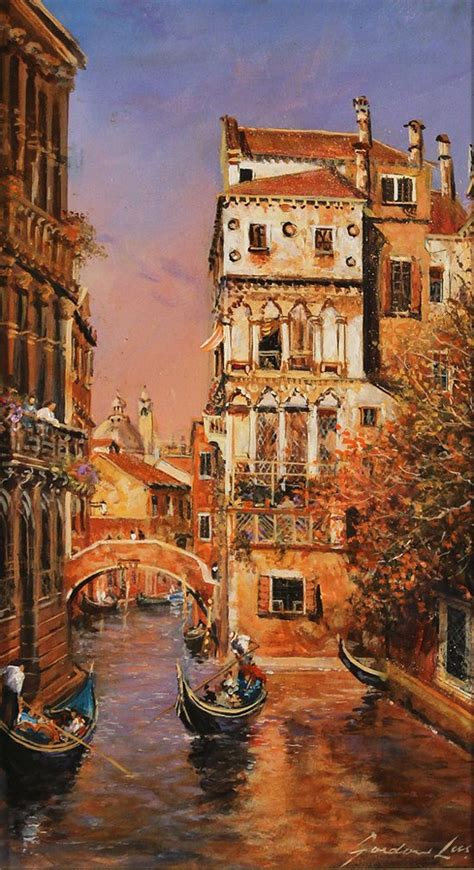 Gorden Venice Gordon Lees Original Painting On Panel Memories Of