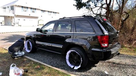plasti dip jeep cherokee timelapse of plastidipping my 05 grand cherokee rims youtube