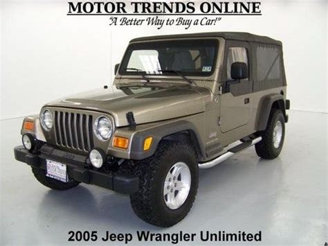 Jeep Wrangler Unlimited Top Speed Find Used 2005 4x4 Unlimited Soft Top Boards 5 Speed