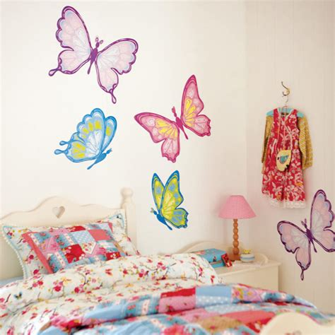 butterfly bedroom decor wall decals for girls room 2017 grasscloth wallpaper