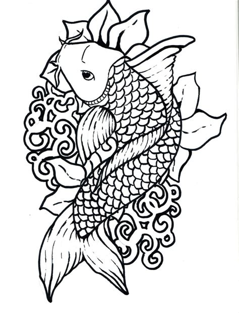 Free Koi Fish Coloring Sheet