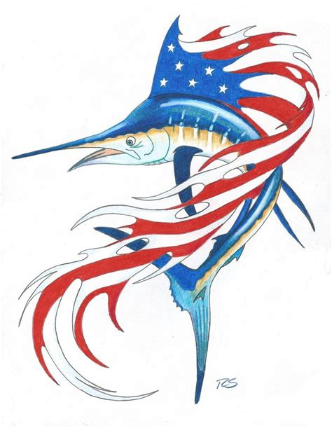 guy harvey s patriotic sailfish by rshaw87 on deviantart