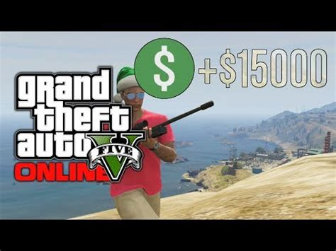 gta 5 online: 25,000 dollars in 6 minutes! fast mone