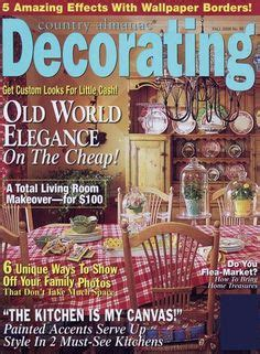 decorating magazines country home decor on country dining