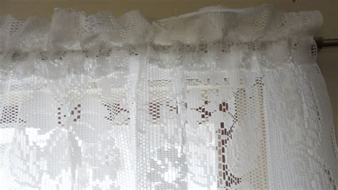 shabby chic drapes jcpenney lace curtains vintage lace 84 curtain pair jc