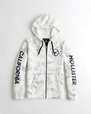 Hollister Print Logo Hoodie hoodies sweatshirts hollister co